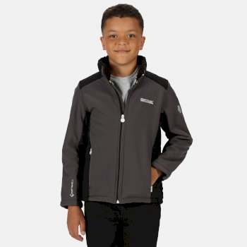 Kids' Rivendale II Full Zip Softshell Walking Jacket Magnet Black