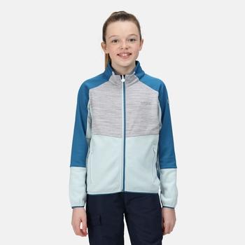 Kids' Oberon IV Softshell Jacket Ice Blue White Marl Blue Sapphire