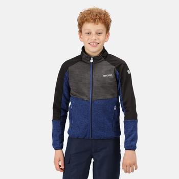 Kids' Oberon IV Softshell Jacket Surf Spray Ash Marl Black