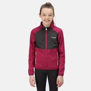 Kids' Oberon IV Softshell Jacket Fuchsia Ash Marl Raspberry Radiance