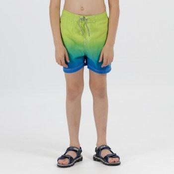 Kids Skander Swimming Shorts Skydiver Lime Zest