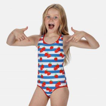 Kids' Tanvi Swimming Costume Fiery Red