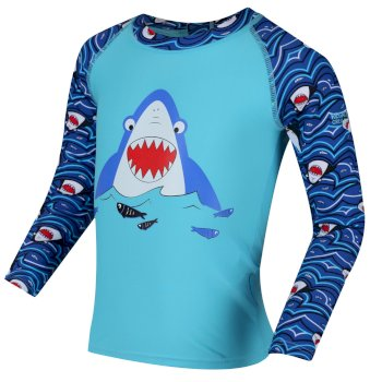 Kids' Valo Rash Suit Nautical Blue