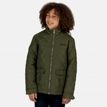 Kids' Zion Quilted Insulated Jacket Racing Green