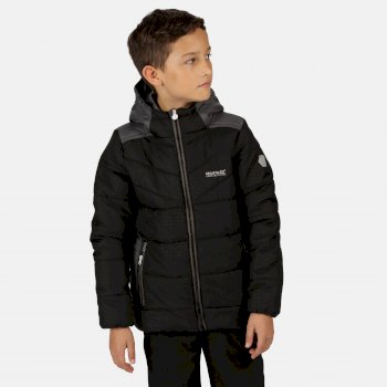 Regatta Kids Padded Jacket Winter Quilted School Camping Hooded Coat Lofthouse