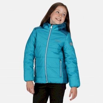 Kids' Lofthouse IV Insulated Heavyweight Hooded Walking Jacket Fresh Water Blue Dark Methyl