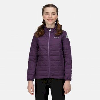 Kids' Helfa Insulated Hooded Jacket Dark Aubergine