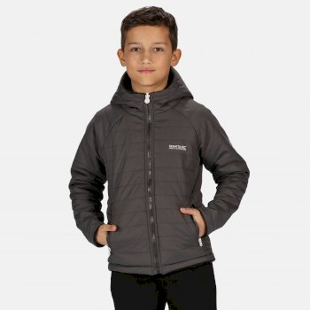 Kids' Spyra Lightweight Insulated Hooded Walking Jacket Magnet Ash