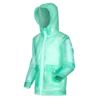 Kids' Hallow Waterproof Transparent Hooded Jacket Ice Green