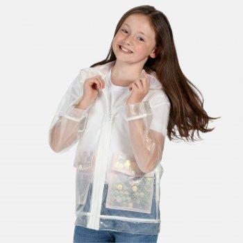 Kids' Hallow Waterproof Transparent Hooded Jacket Clear Sequin