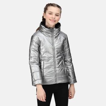 Dziecięca kurtka zimowa Vedetta srebrna