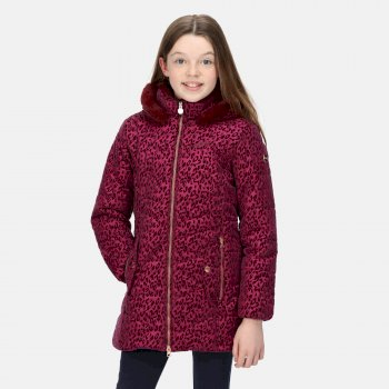 Kids' Branwen Insulated Hooded Jacket Raspberry Smudge Print