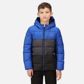 Kids' Lofthouse V Insulated Hooded Jacket Surf Spray Ash Black
