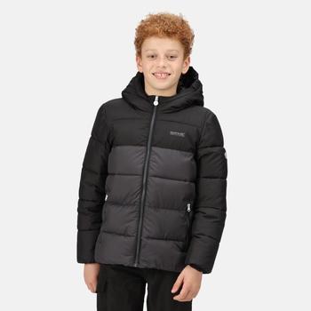 Kids' Lofthouse V Insulated Hooded Jacket Black Ash
