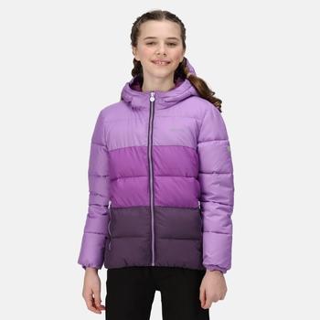 Kids' Lofthouse V Insulated Hooded Jacket Hyacinth Purple Sapphire Dark Aubergine
