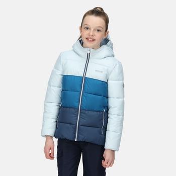 Kids' Lofthouse V Insulated Hooded Jacket Ice Blue Blue Sapphire Dark Denim
