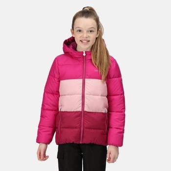 Kids' Lofthouse V Insulated Hooded Jacket Fuchsia Powder Pink Raspberry Radiance