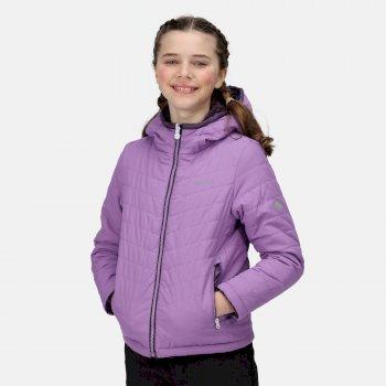 Kids' Spyra II Lightweight Insulated Jacket Hyacinth Dark Aubergine Reverse