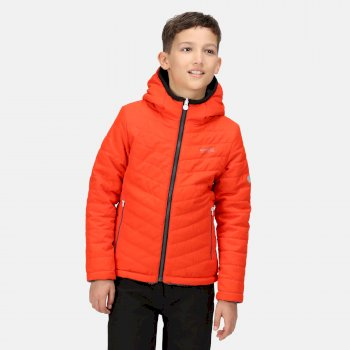 Kids' Spyra II Lightweight Insulated Jacket Cajun Orange Ash Camo Reverse