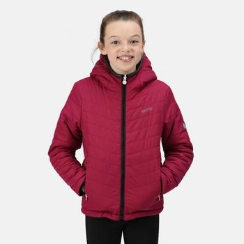 Kids' Spyra II Lightweight Insulated Jacket Raspberry Radiance Black Reverse