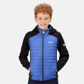 Kids' Kielder V Hybrid Insulated Jacket Surf Spray Black