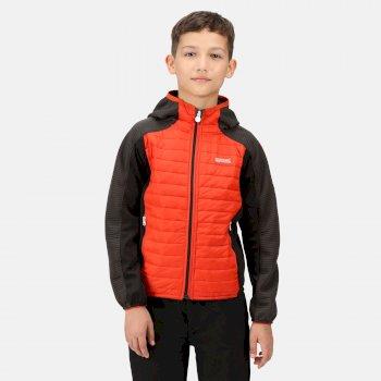 Kids' Kielder V Hybrid Insulated Jacket Cajun Orange Ash Black