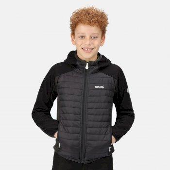 Kids' Kielder V Hybrid Insulated Jacket Ash Black