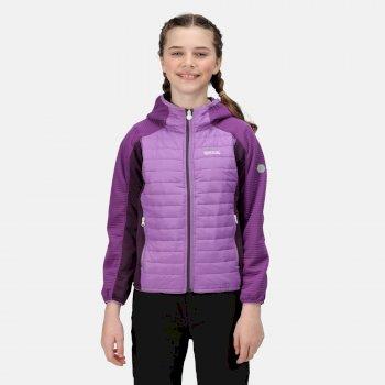 Kids' Kielder V Hybrid Insulated Jacket Hyacinth Purple Sapphire Dark Aubergine
