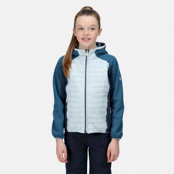Kids' Kielder V Hybrid Insulated Jacket Ice Blue Blue Sapphire Dark Denim