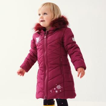 Dziecięca kurtka ocieplana Peppa różowa
