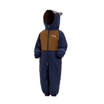 Mudplay III Breathable Waterproof Puddle Suit Navy Brown Tan