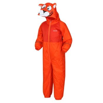 Kids' Mudplay III Waterproof Puddle Suit Blaze Orange Tiger