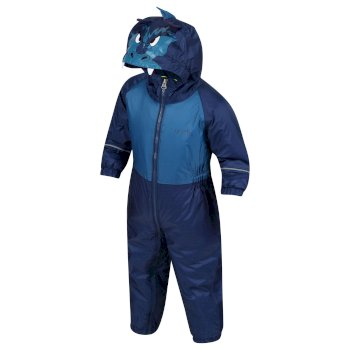 Kids' Mudplay III Breathable Waterproof Puddle Suit Blue Dragon