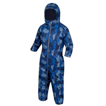 Kids' Printed Splat II Puddle Suit Navy Camo