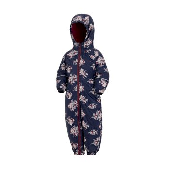 Printed Splat II Puddle Suit Navy Floral