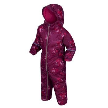 Kids' Printed Splat II Puddle Suit Beetroot Floral
