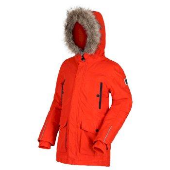 Kids' Proktor Waterproof Insulated Fur Trimmed Parka Jacket Rusty Orange