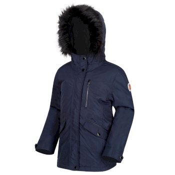 Kids' Palomina Waterproof Insulated Fur Trimmed Jacket Navy