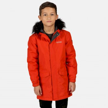 Kids' Perry Fur Trimmed Waterproof Insulated Jacket Rusty Orange