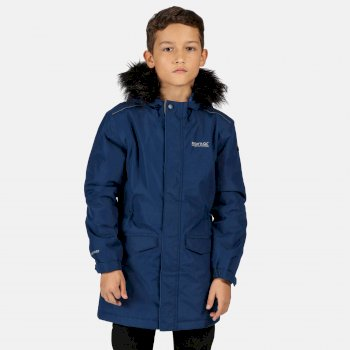 Kids' Perry Fur Trimmed Waterproof Insulated Jacket Prussian Blue