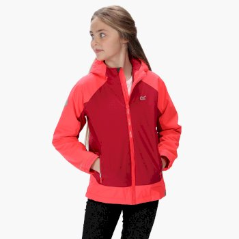 Kids' Hurdle III Waterproof Insulated Jacket Dark Cerise Neon Pink