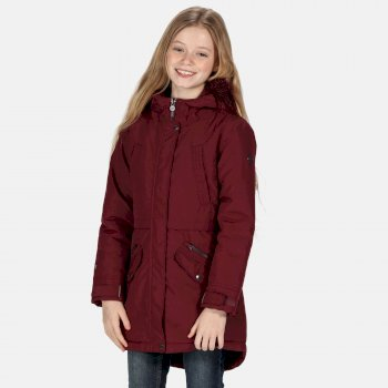 Kids' Honoria Waterproof Insulated Fur Trimmed Hooded Parka Jacket Fig