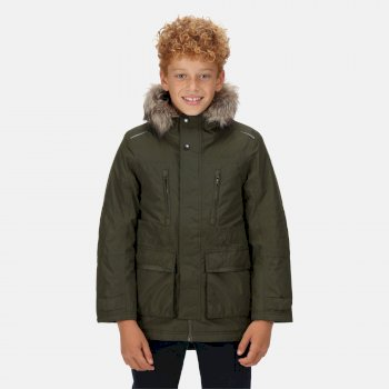Kids' Podrick Waterproof Insulated Parka Jacket Dark Khaki
