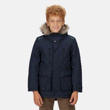 Kids' Podrick Waterproof Insulated Parka Jacket Navy
