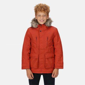Kids' Podrick Waterproof Insulated Parka Jacket Red Ochre