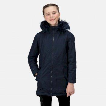 Kids' Abbettina Waterproof Insulated Parka Jacket Navy