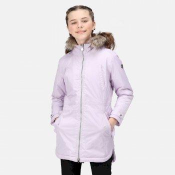 Kids' Abbettina Waterproof Insulated Parka Jacket Lilac Frost High Shine