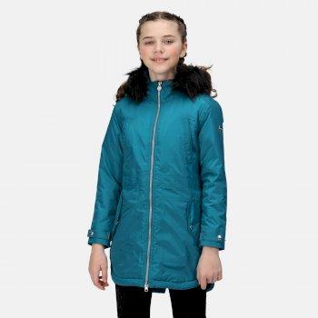 Kids' Abbettina Waterproof Insulated Parka Jacket Gulfstream High Shine
