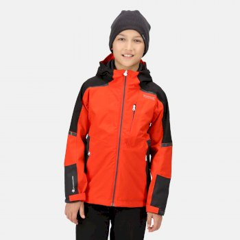 Kids' Hydrate VI 3-In-1 Waterproof Insulated Jacket Cajun Orange Black Rhino