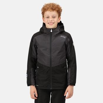 Kids' Beamz Waterproof Insulated Jacket Black Ash